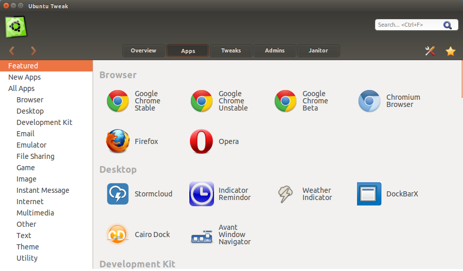 ubuntu tweak apps