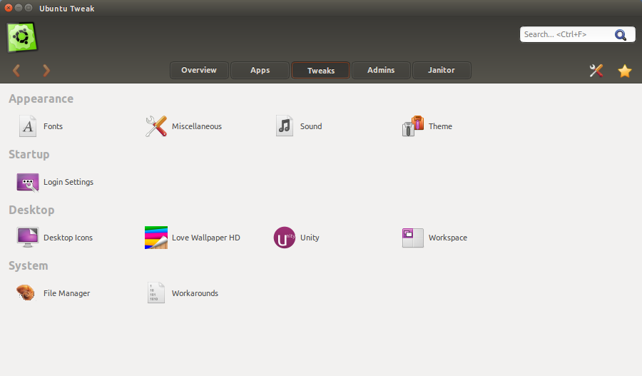 ubuntu tweak tweaks