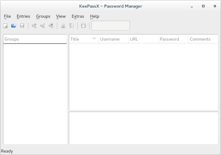 keepass x on tails linux