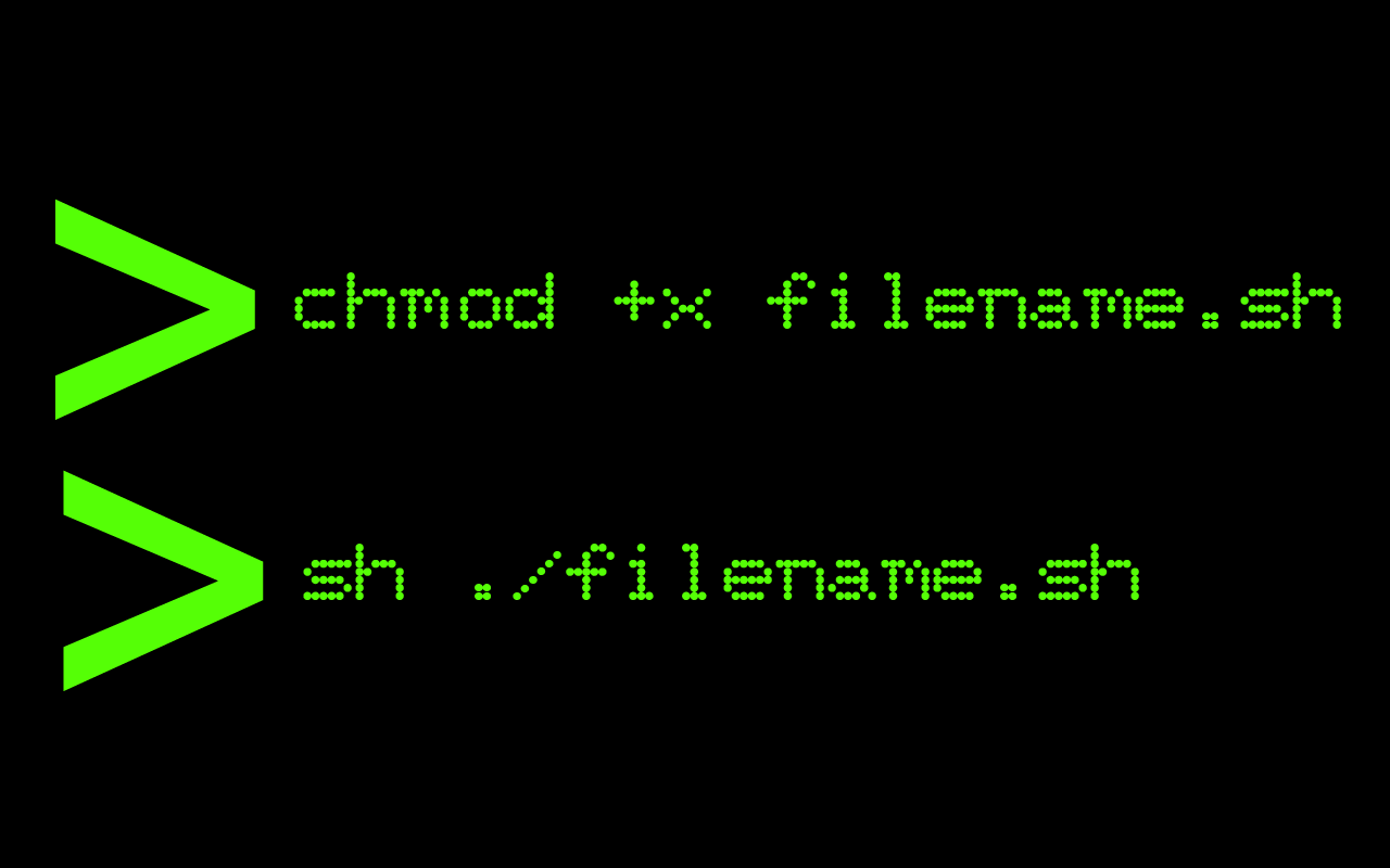 how to run sh file in linux