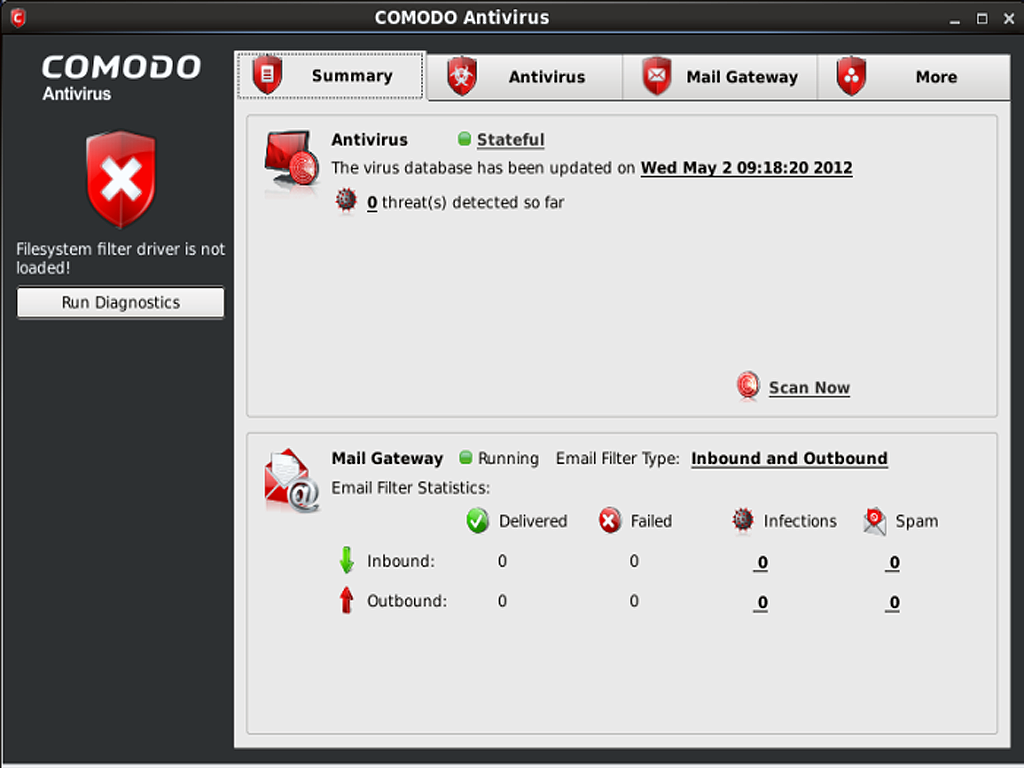 comodo antivirus for linux screenshot