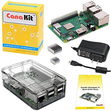 CanaKit Raspberry Pi 3 B+ (B Plus) with Premium Clear Case and 2.5A Power Supply - 1