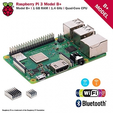 CanaKit Raspberry Pi 3 B+ (B Plus) with Premium Clear Case and 2.5A Power Supply - 2
